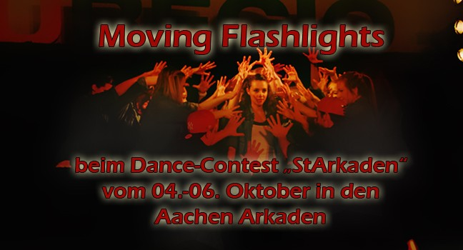 Moving Flashlights bei den StArkaden